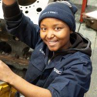Automotive machinist Lerato Molete is following her passion.