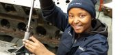 Automotive machinist, Lerato Molete, carves her own path in a man's world.